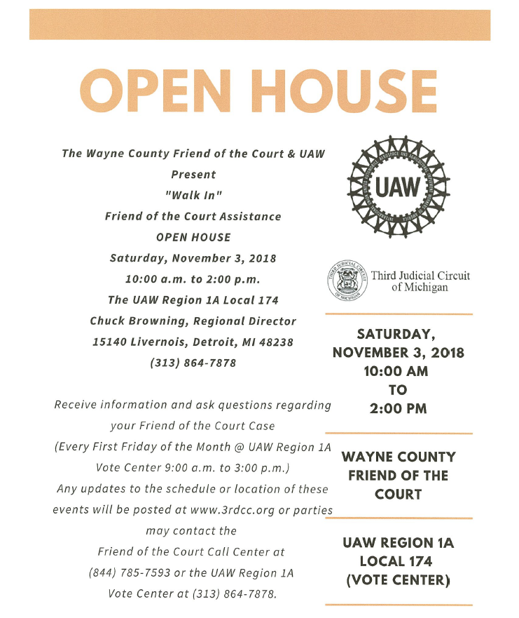 UAW & FOC Open House Flyer